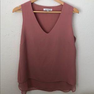 ROSE + OLIVE - Sleeveless blush pink top